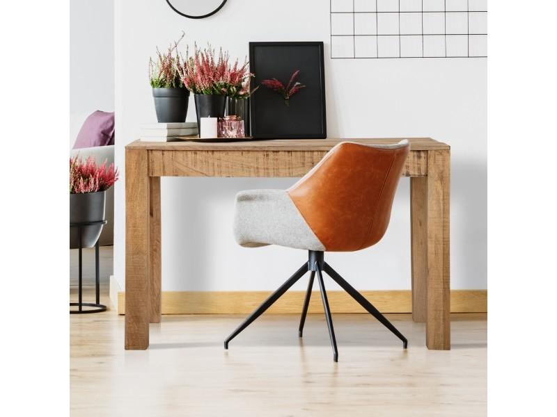 Table à manger womo-design marron, 120x77x60 cm, en bois de manguier massif et mdf 390003225