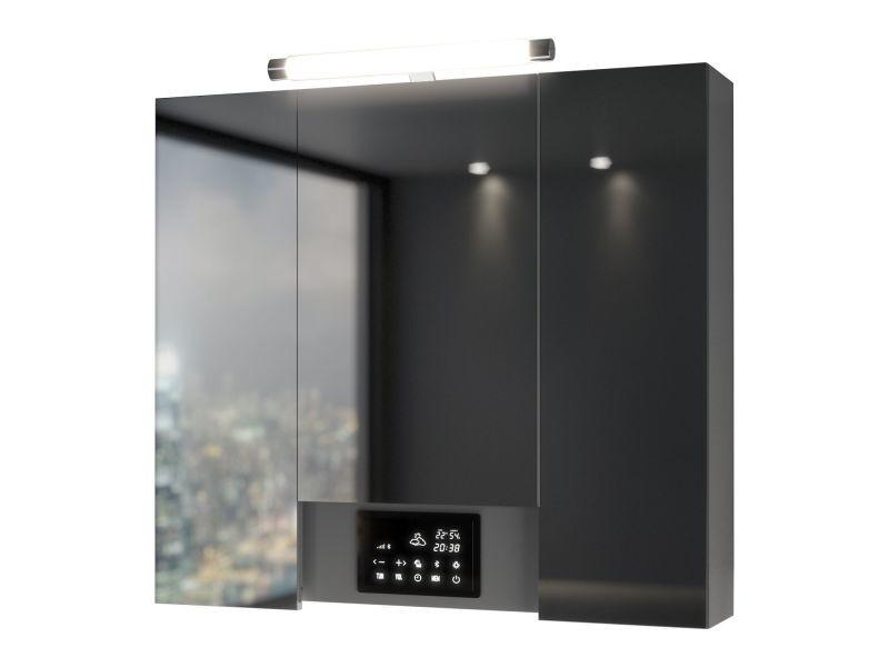 Armoire De Toilette Avec Led Opty 3 Portes 80 X 77 5 Cm Vente