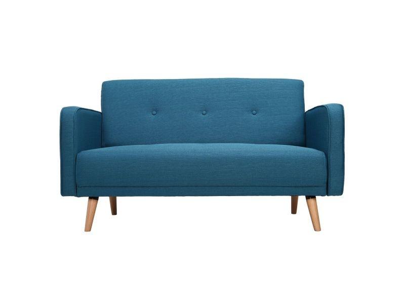 canap scandinave 2 places bleu canard ulla vente de. Black Bedroom Furniture Sets. Home Design Ideas