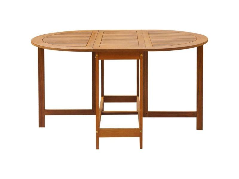 Icaverne - tables d'extérieur serie table à abattants d'extérieur ovale bois d'acacia