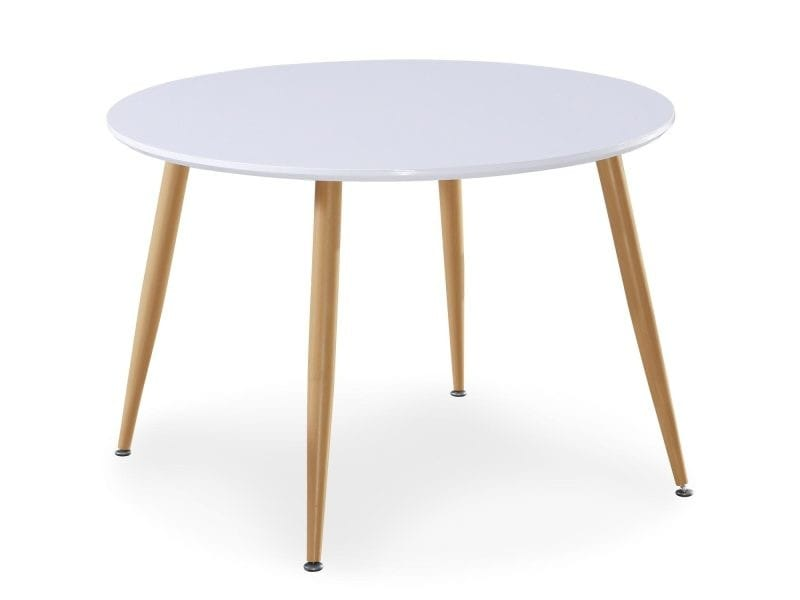 Table Scandinave Nina Bois Laque Blanc Vente De Menzzo Conforama