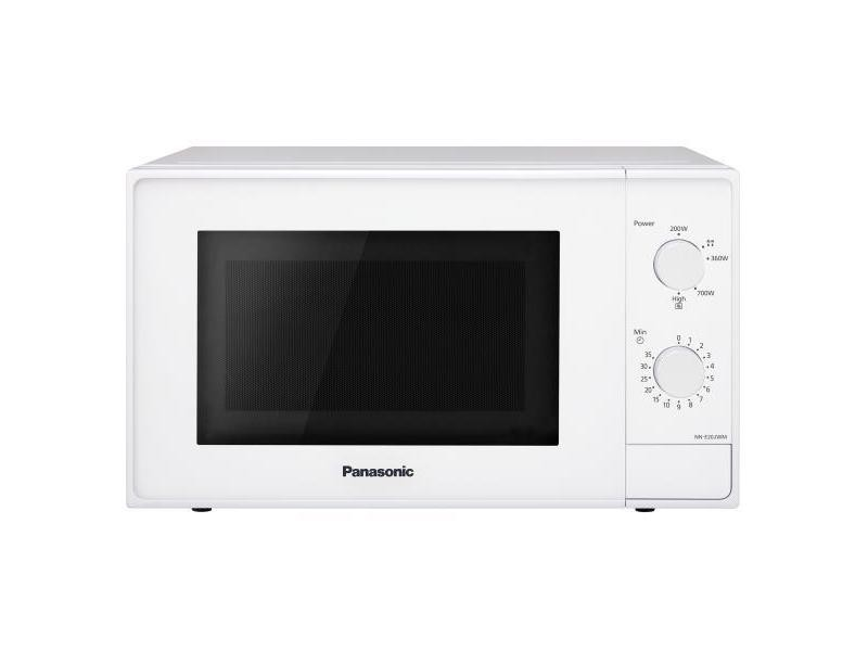 Panasonic nn-e20jwmepg four à micro-ondes, 800 w, 20 l, 46 db, blanc