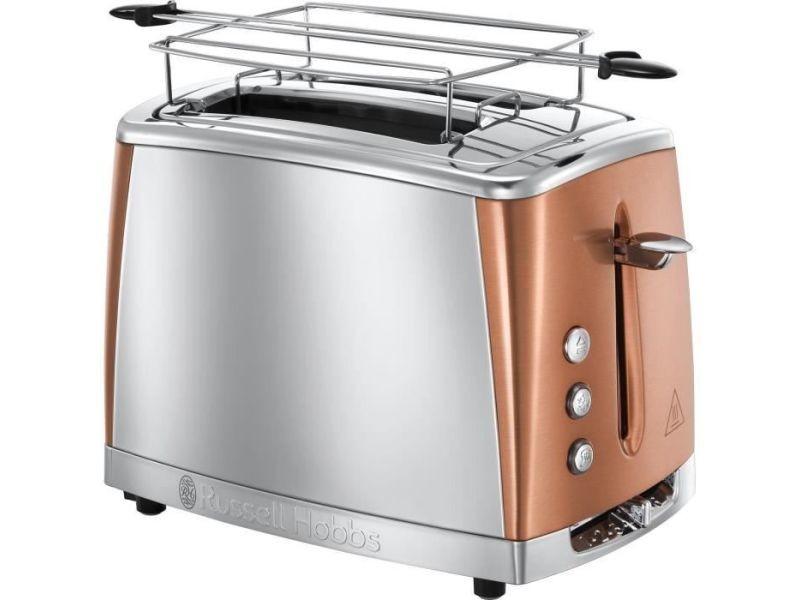 Russell hobbs 24290-56 - toaster luna - technologie fast toast - inox + cuivre rose RUS4008496940233