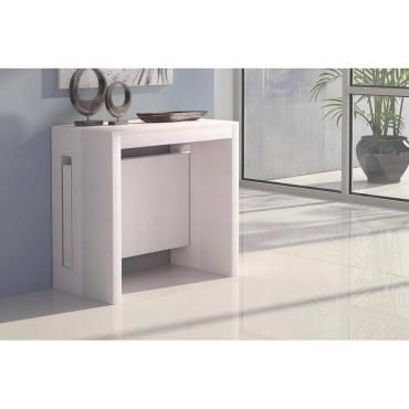 Console extensible grandezza blanche 20100850762 vente - Tables consoles extensibles conforama ...