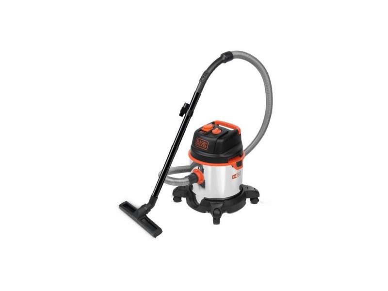 Black & decker aspirateur eau et poussiere1400 w cuve 20 l en inox avec prise pour outil électroportatif BXVC20XTE51685