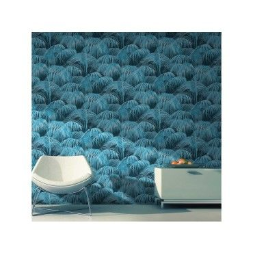 papier peint jungle tropicale bleu conforama. Black Bedroom Furniture Sets. Home Design Ideas