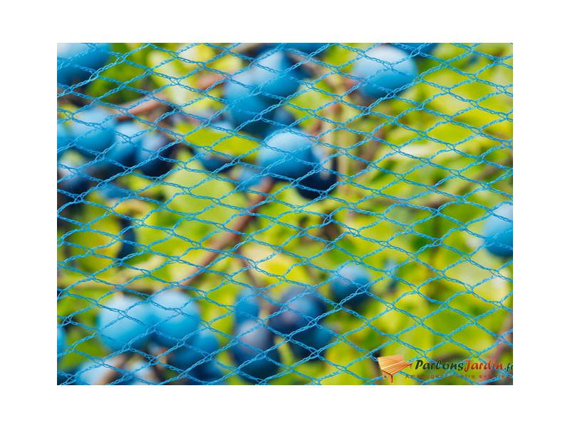 Filet anti-oiseaux nano en maille tricotée polyéthylène 22gr/m² bleu 5x4m