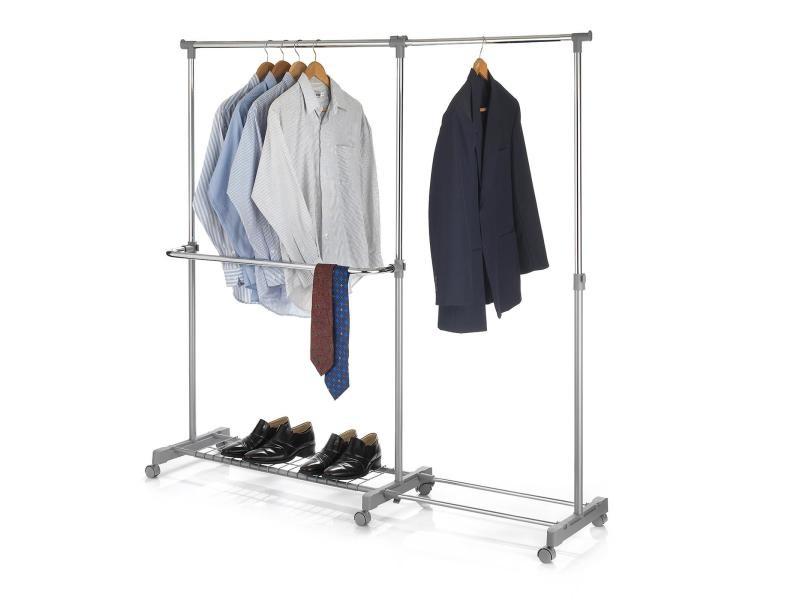 portant v tements london penderie sur roulettes rangement vestiaire hauteur et longueur. Black Bedroom Furniture Sets. Home Design Ideas