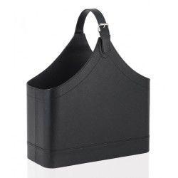 Porte revues cuir noir  design