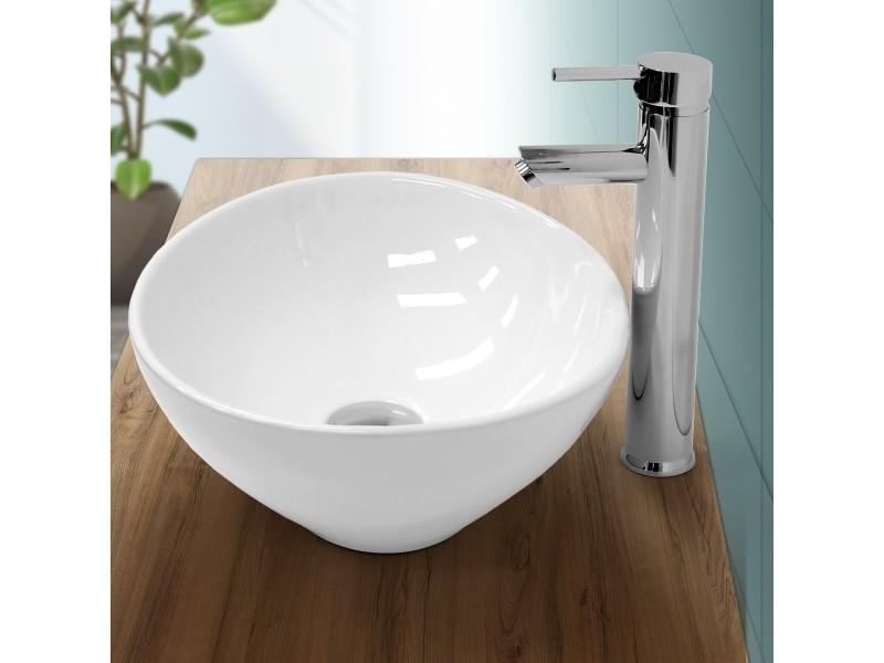 Lavabo en céramique blanc 410 x 330 x 140 mm 322008852