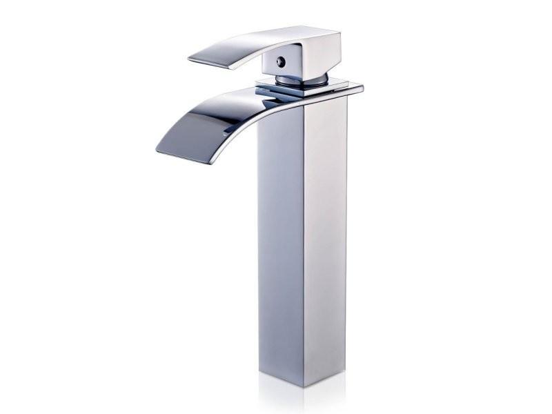 Robinet salle de bain lavabo vasque haut cascade en chrom - Vente de ...