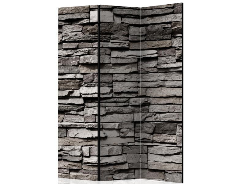 Paravent 3 pans - stony facade - 135 x 172 cm