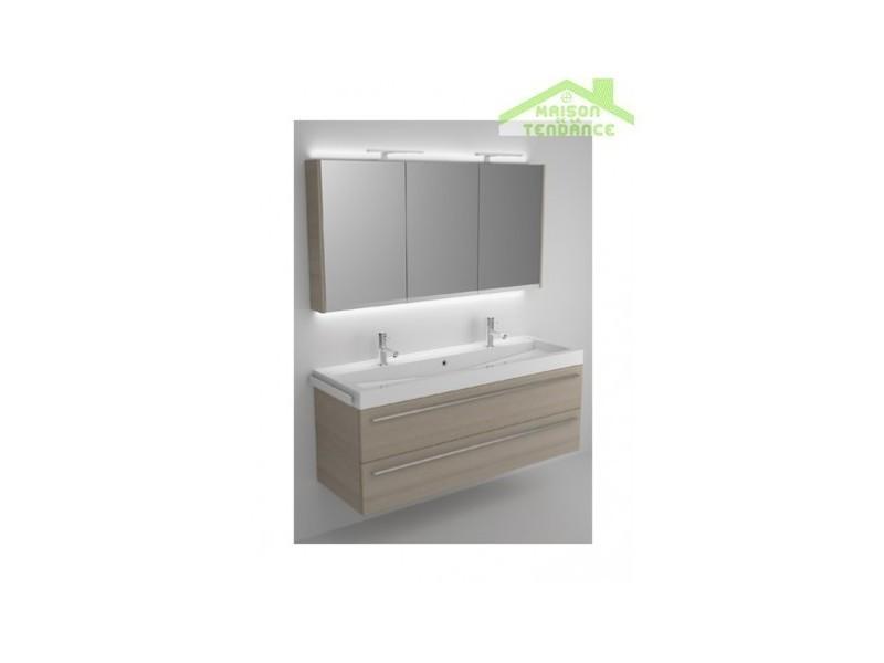 Ensemble meuble & lavabo riho bologna set 64 140x48x h 58,5 cm - bois laqué brillant FBO140*GLOSSGLOSS*S64