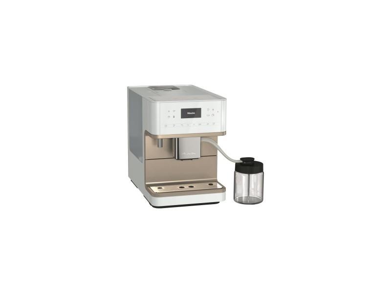 Miele cm 6360 milkperfection bb cleansteelmetallic machine a café expresso broyeur automatique - posable - couleur blanc lotus MIE4002516358848