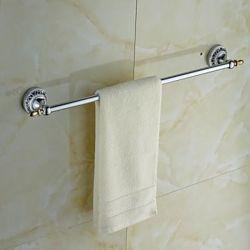 Porte-serviettes en laiton chromé et céramique