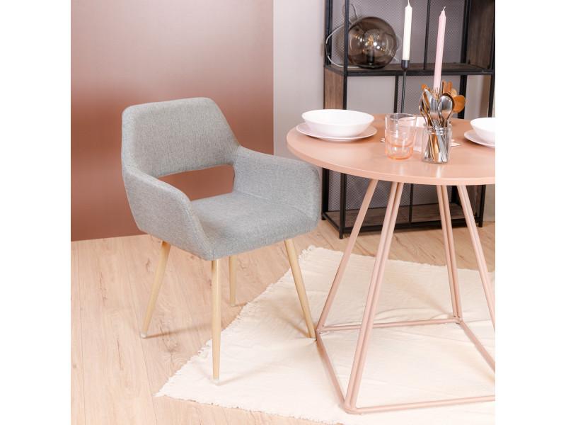 Chaise scandinavie tissu gris