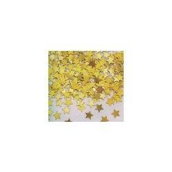 Confettis sac de 50 gr : etoiles métallisées jaune