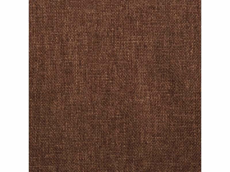 Lot de deux chaises pivotante de salle à manger marron tissu
