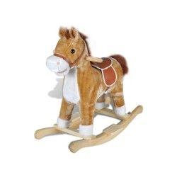 Vidaxl animal de cheval à bascule avec musique
