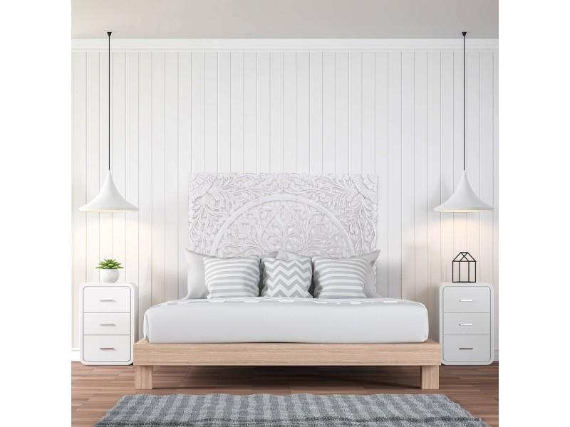 Tête de lit flora 140cm bois blanc