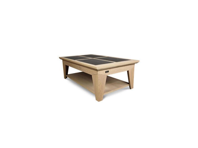 Table Basse En Chêne Coloris Amande Ardoise Vente De