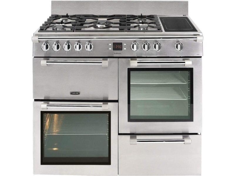 Leisure cookmaster ck100f324x gazinière - gaz et électrique - 100 cm - 58 l - compatible avec gpl - inox