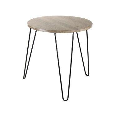 Table basse ronde en bois pieds m tal vente de cas me - Table basse ronde conforama ...