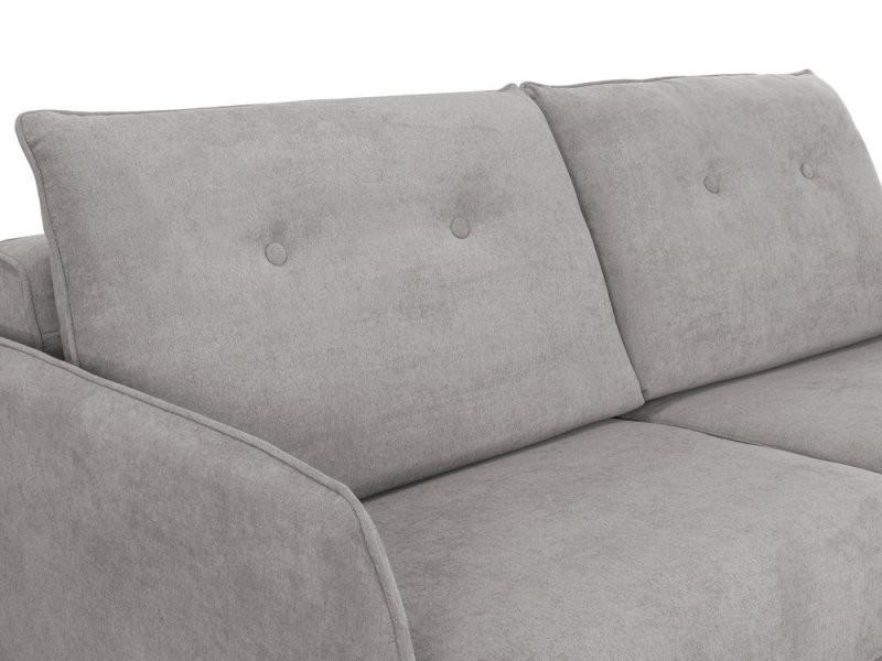 canap design convertible express 3 places en tissu gris. Black Bedroom Furniture Sets. Home Design Ideas