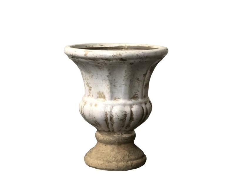 Jardinière pot vasque médicis terre cuite émaillé 16 cm P-CSP019-Vasque