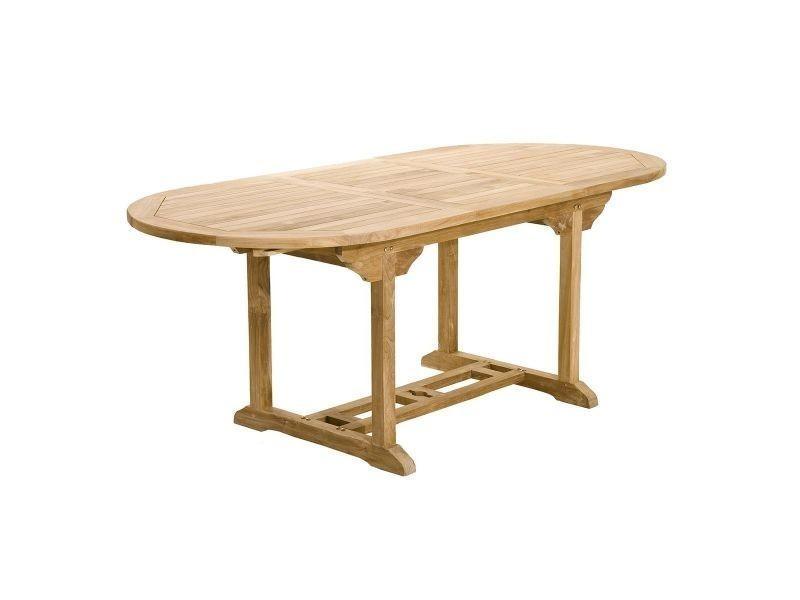 Table de jardin en teck extensible 150/200cm santaluz ...