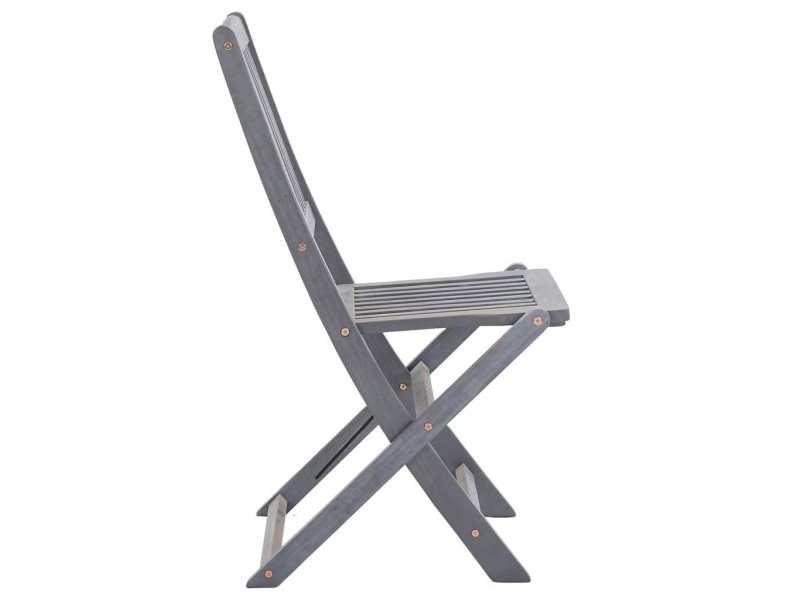 Vidaxl chaises pliables d'extérieur 4 pcs bois d'acacia solide 46336