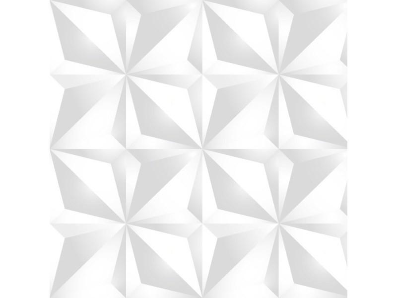 99DECO Plinthe PVC Lot de 10 Origami Style Blanc