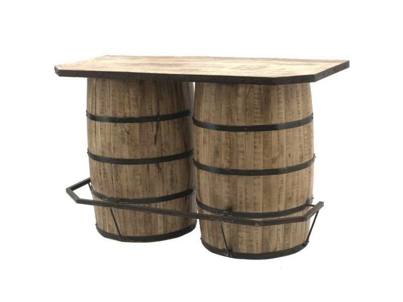 Style ancien bar double tonneaux fut à vin bois fer 160.50 ...