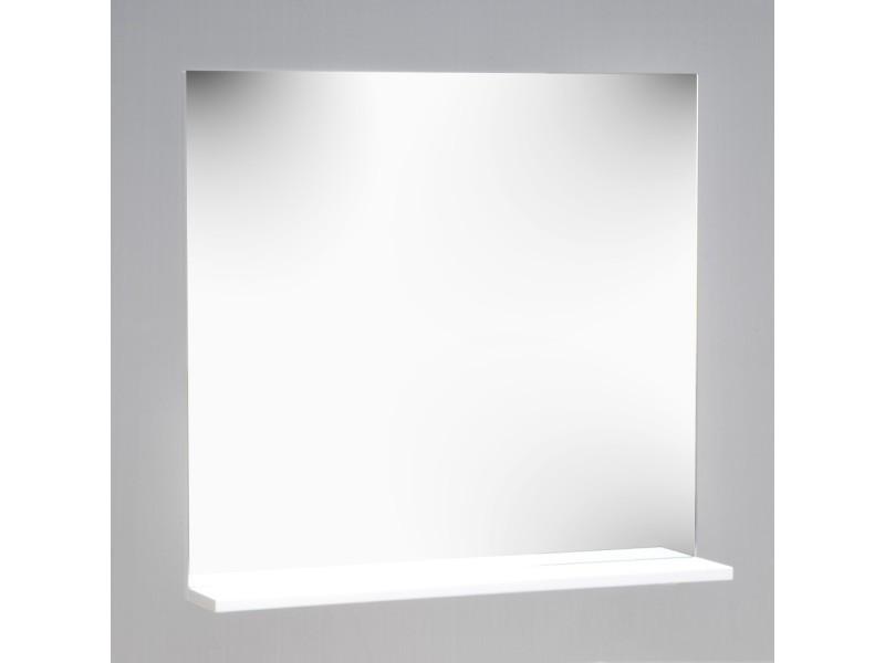 Miroir 1 tablette tribu blanc 82449 vente de miroir de for Conforama miroir blanc
