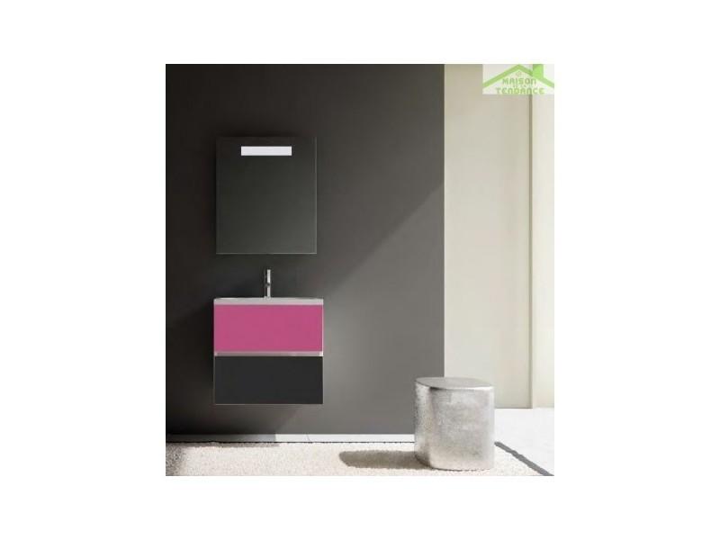 Ensemble meuble & lavabo riho cambio stretto set 03 60x38x h 58 cm - bois laqué brillant FSR060Z01DDDS03