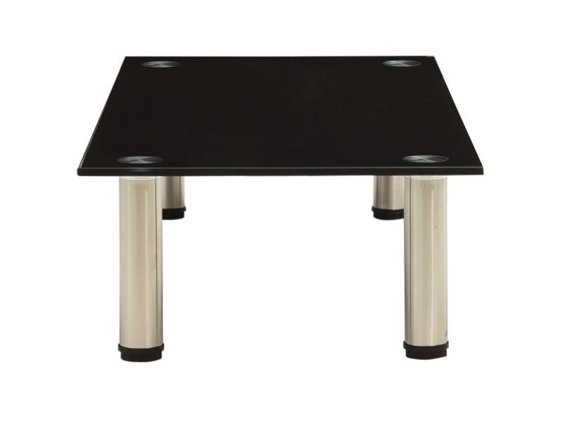 Vidaxl meuble tv noir 80x35x17 cm verre trempé 322764