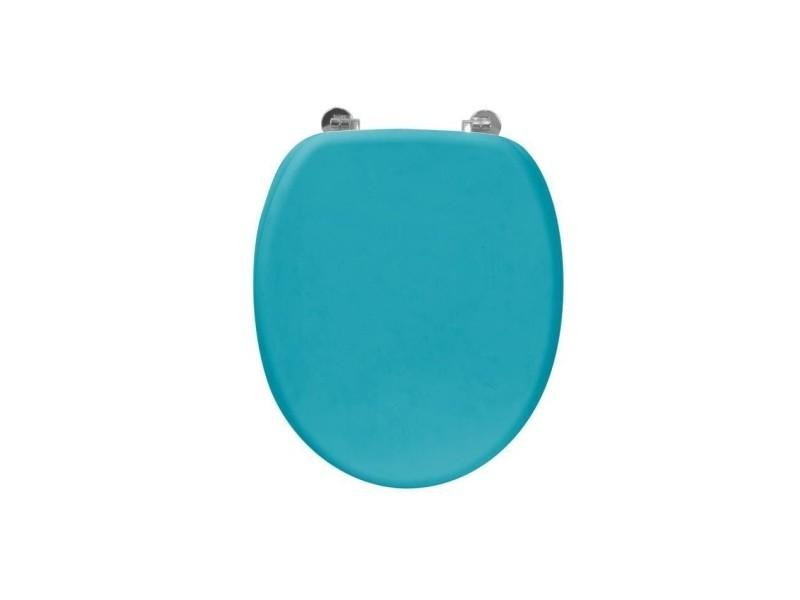 Abattant wc rubber en bois bleu FRA191464