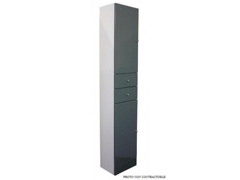 Aqua+ - colonne salle de bain taupe à poser haut. 188cm ...