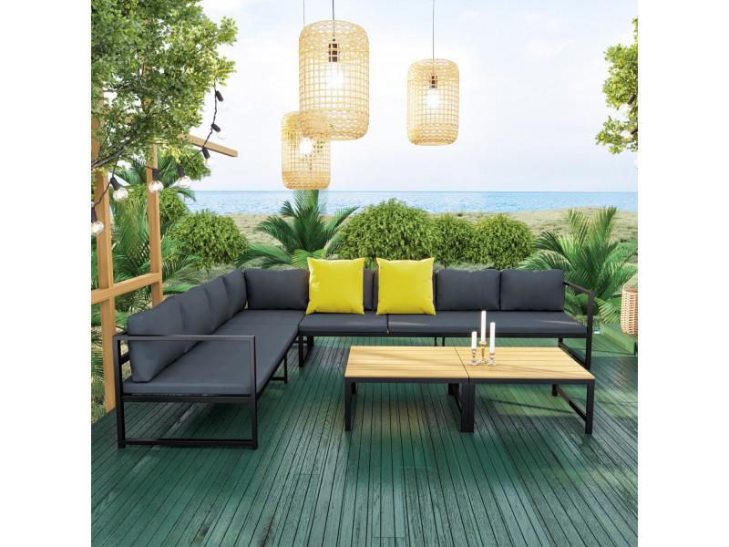 Salon modulable relevable de jardin en aluminium design ...