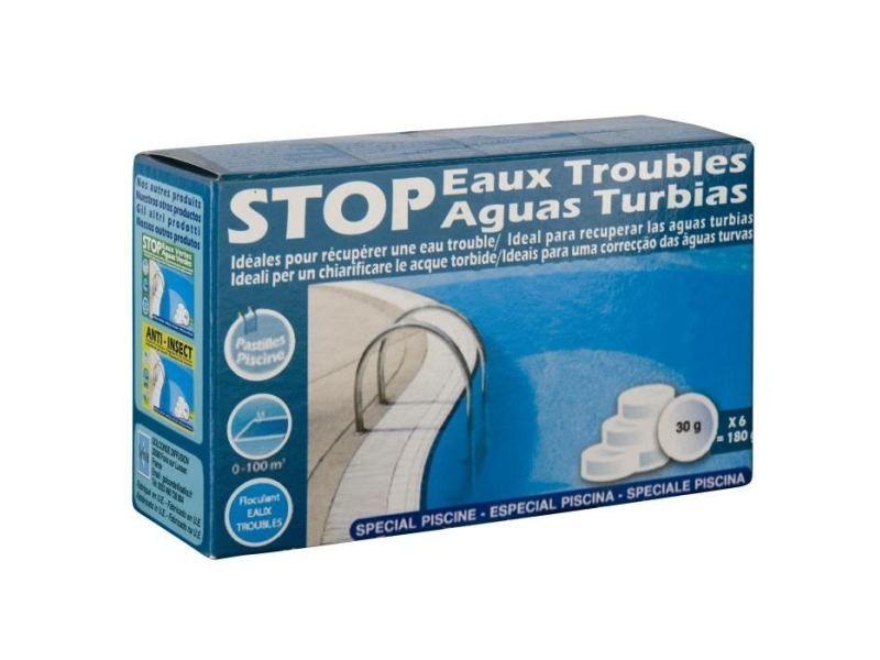 Produit de traitement de l'eau pastilles stop eaux troubles - 180 g