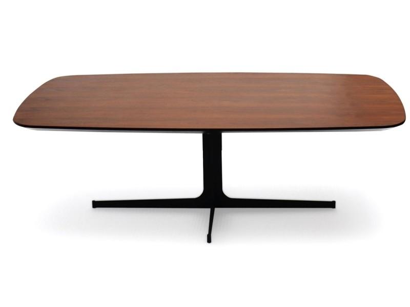 Table basse bois venus - noyer - bois foncé