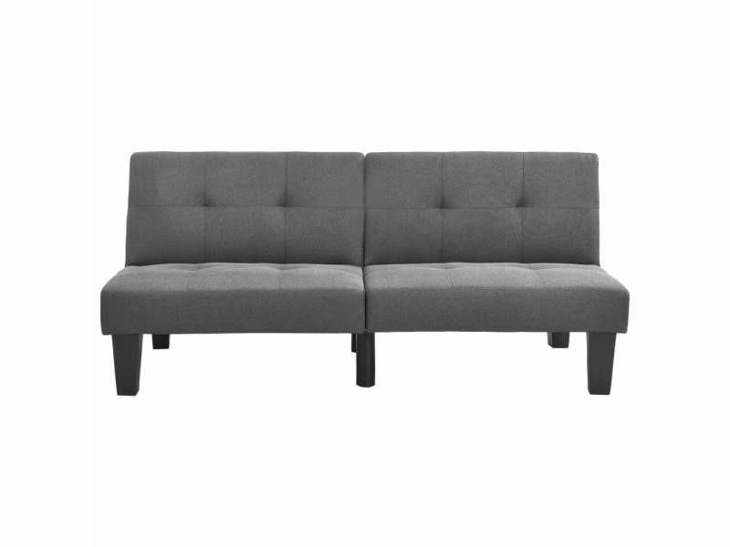 Vidaxl canapé-lit gris clair tissu 323608