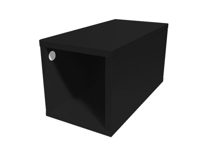 Cube de rangement bois 25x50 cm 25x50 noir CUBE25-N