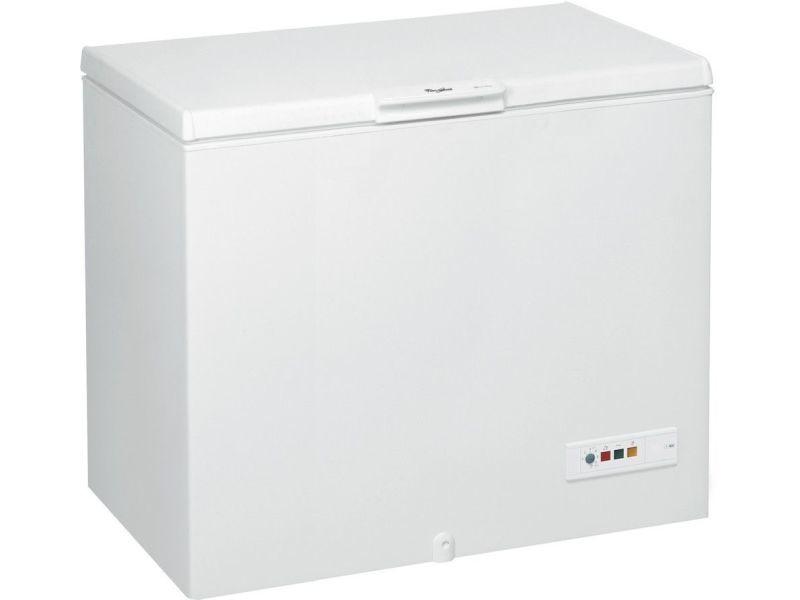 Congélateur coffre 311l froid ventilé whirlpool 118cm a+, whm 3112 fm