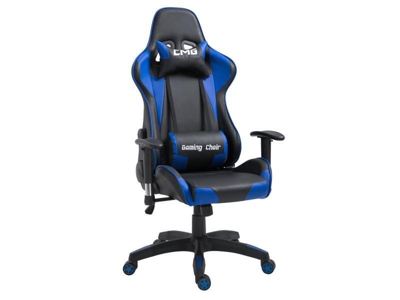 Chaise de bureau gaming fauteuil ergonomique avec coussins siège