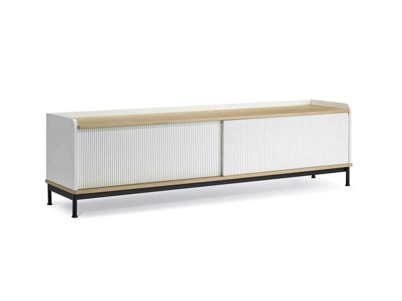 Darrel meuble tv mdf blanc