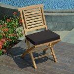 Coussin noir pour chaises et fauteuils pliants