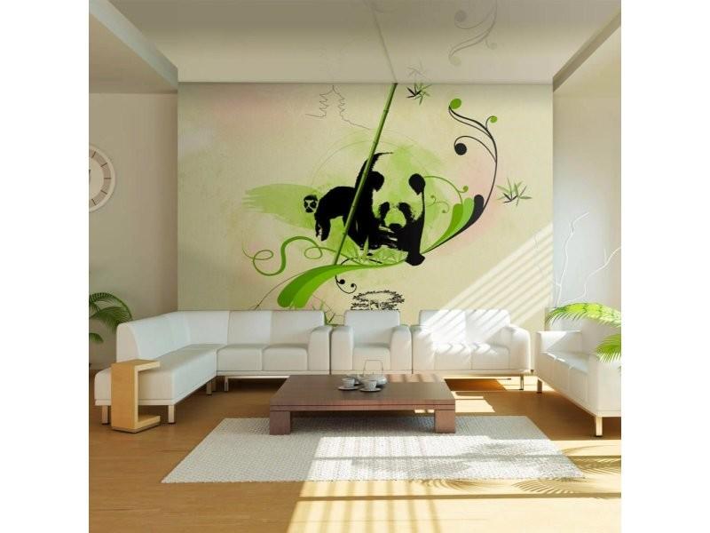 Papier peint panda dans la forêt de bambous A1-XXLFTNT0770