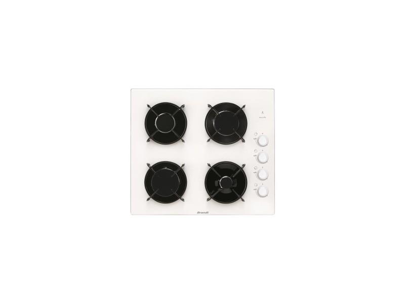 Table de cuisson gaz 4 bruleurs - 1 bruleur rapide 3100w - 58cm - coloris blanc