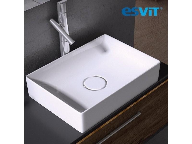 vasque a poser ceramique rectangulaire Vasque à poser rectangulaire 50 cm en céramique blanche - floppy